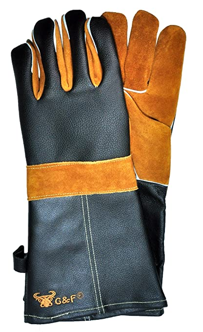 Amazon Com G F 8115 Premium Grain Leather Gloves Bbq Gloves