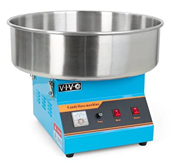VIVO Blue Electric Commercial Cotton Candy Machine
