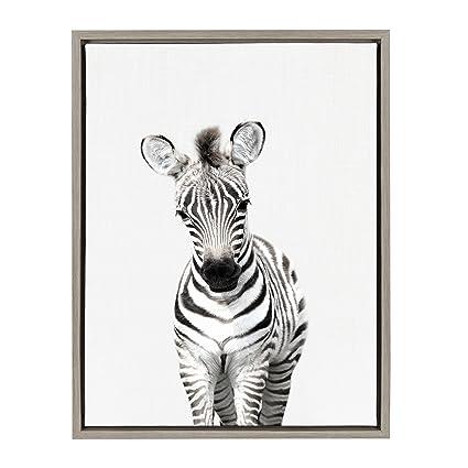 Amazon.com: Kate and Laurel - Sylvie Baby Zebra Animal Print ...