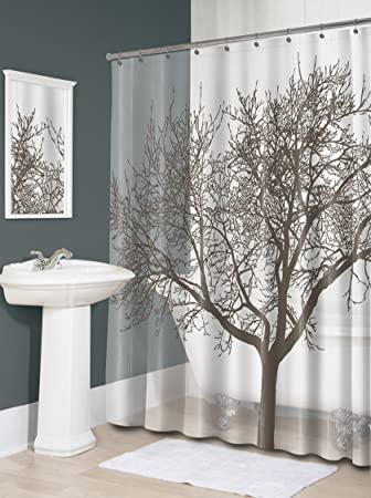 Nice Splash Home Tree Mocha Eva Shower Curtain