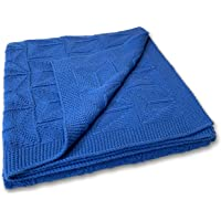 Zeke and Zoey Soft 100% Cotton Knit Baby Blanket for Girls or Boys – Unisex, for Infant, Newborn, Toddler and Kids for…