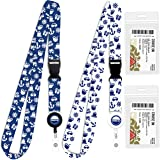 Cruise Lanyard for Ship Cards | 2 Pack Cruise Lanyards with ID Holder, Key Card Retractable Badge & Waterproof Ship Card Hold