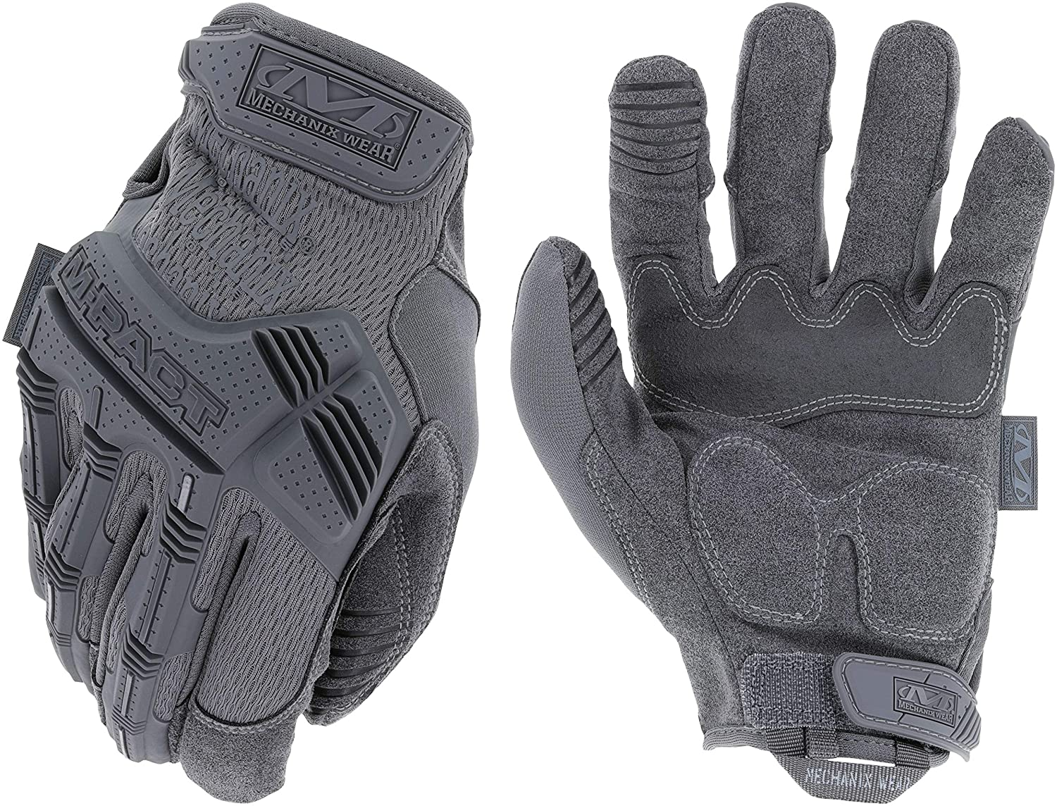 Mechanix Wear - M-Pact Wolf Grey Tactical Gloves (Large, Grey) MPT-88-010