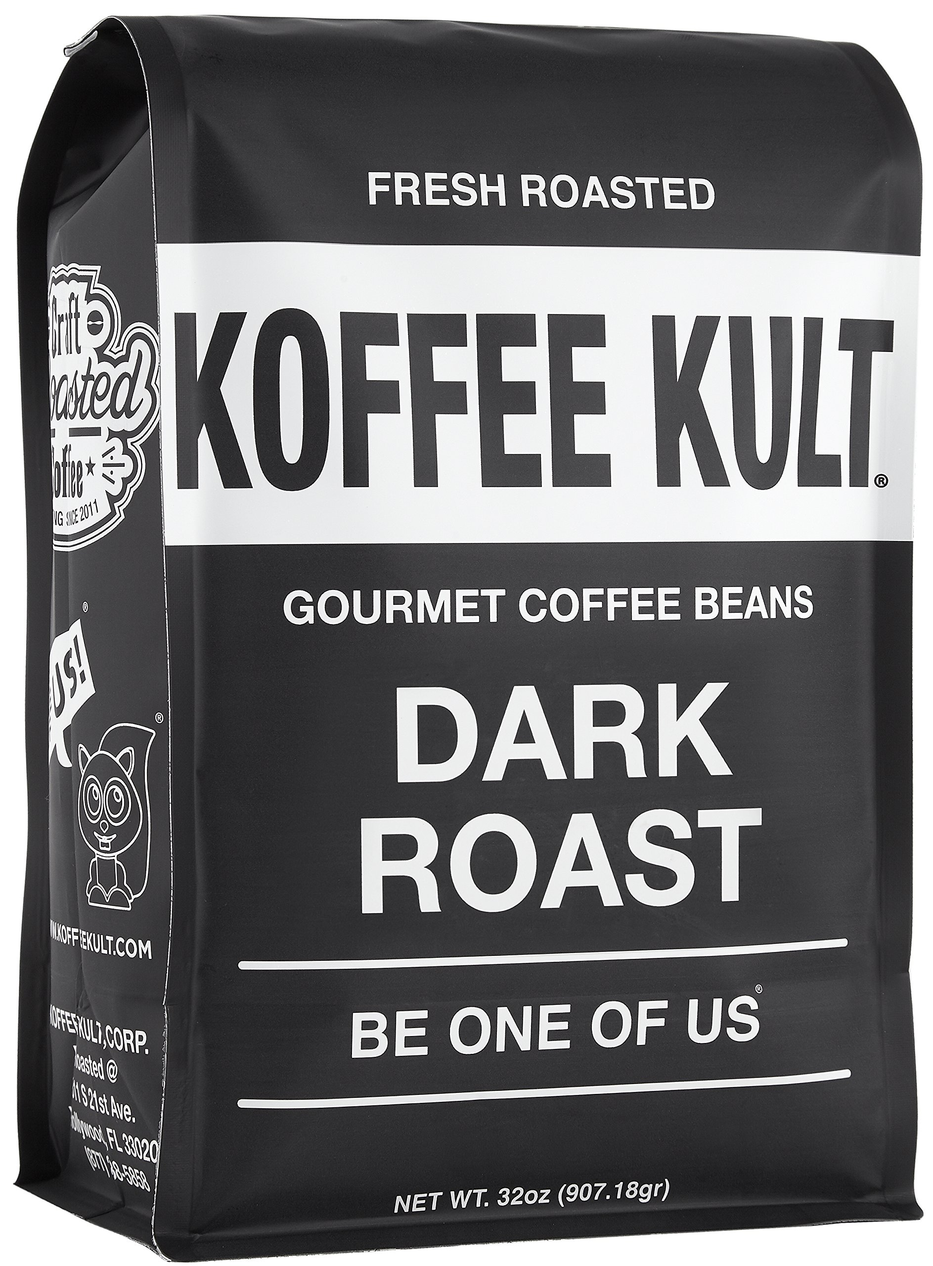 Amazon.com : Koffee Kult Dark Roast Coffee Beans - Highest Quality ...