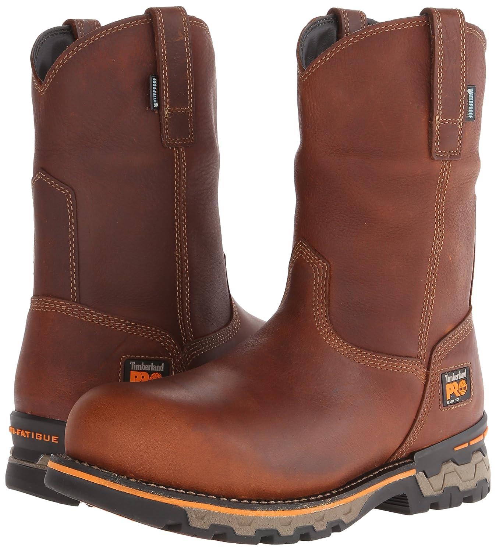 timberland slip on work boots