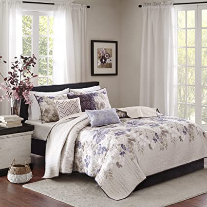 Amazoncom Madison Park Luna Kingcal King Size Quilt Bedding Set