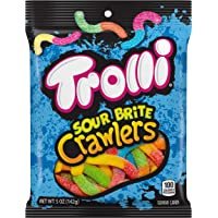 Trolli Sour Brite Crawlers Gummy Candy, 5 Ounce Bag, Pack of 12