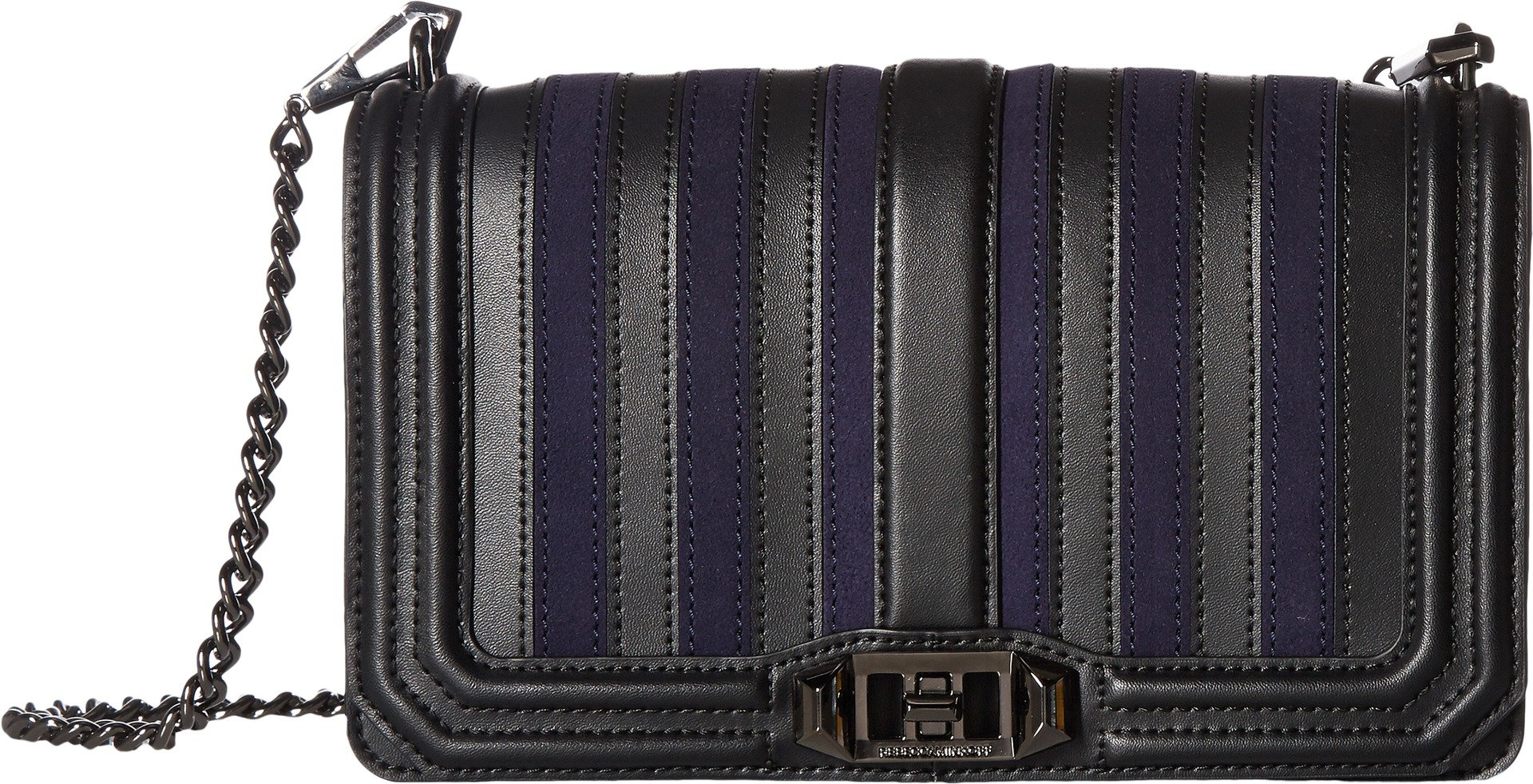 Rebecca Minkoff Women's Stripe Love Cross Body Bag, Moon, One Size