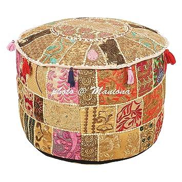 Amazon.com: maniona, color beige indio tradicional bordado ...