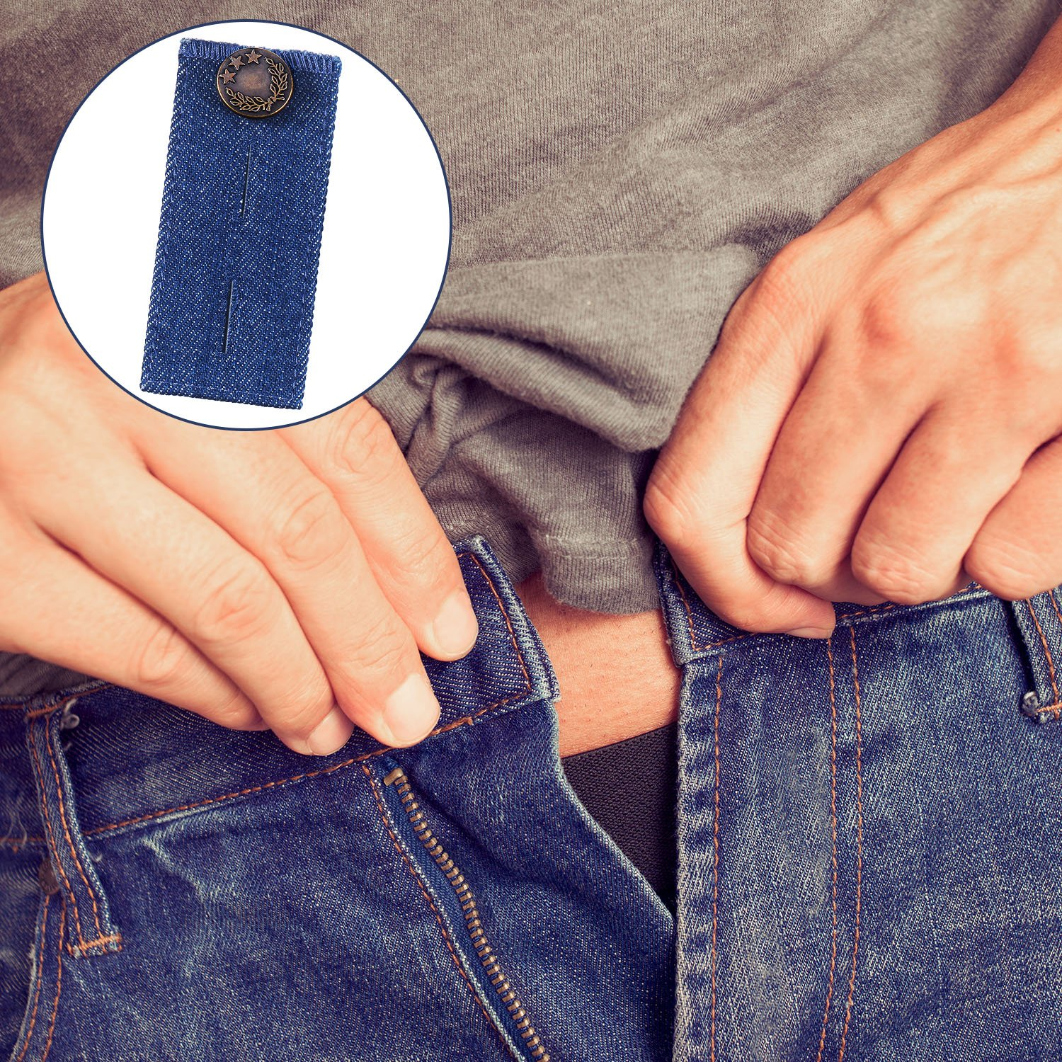 Jeans Black, Blue, Dark Blue and Light Blue Tatuo 8 Pieces Button Extender Waist Extender for Pants Trousers and Skirt