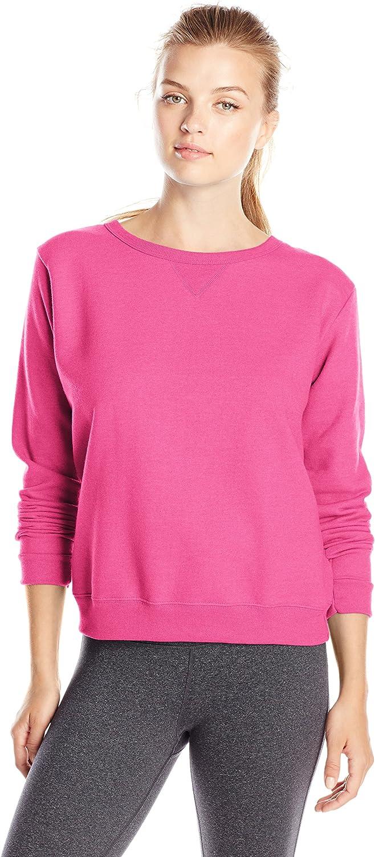 Hanes Women's V-Notch Pullover Fleece Sweatshirt at  Women's Clothing store