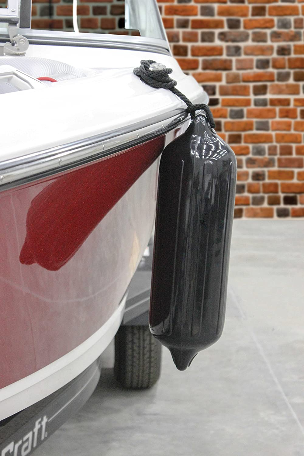 """Bright Red Extreme Max 3006.7498 BoatTector Fender Value 4-Pack 6.5 x 22/"""""""