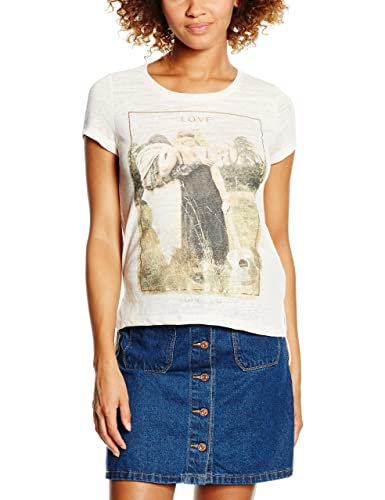 Only Onlgloria S/S Rebel/Love Top Box Ess, T-Shirt Donna