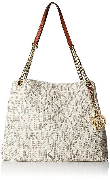fcf7b1d59ee7 Amazon.com: Michael Kors Jet Set Chain Item Large Shoulder Tote Handbag -  Vanilla: Shoes