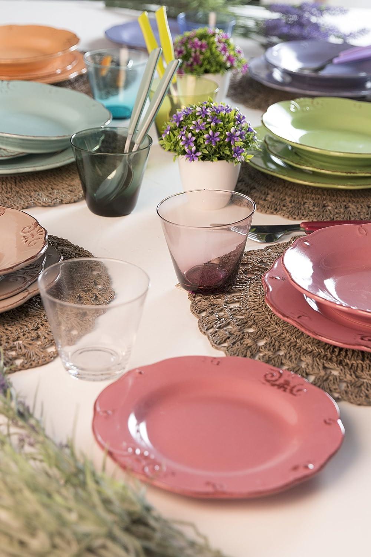 Satur Duchessa Service de table 18pièces Multicolore Villa d/'Este Home Tivoli 2205098 2205098/_Multicolore