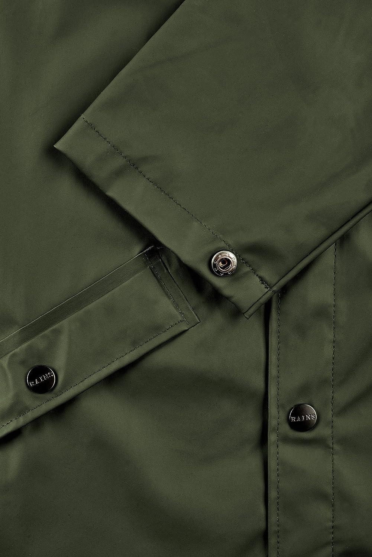 RAINS Long Jacket Manteau Homme Vert (Green 03)
