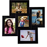 Wens 5-Picture MDF Photo Frame (17 inch x 17 inch, Black)