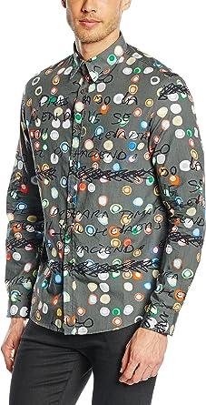 Desigual Camisa Hombre Ayeselolail R Gris L: Amazon.es: Ropa y accesorios