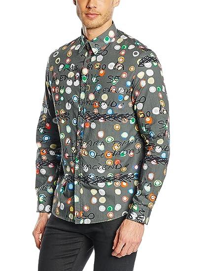 Desigual Camisa Hombre Ayeselolail R Gris XL: Amazon.es: Ropa y ...
