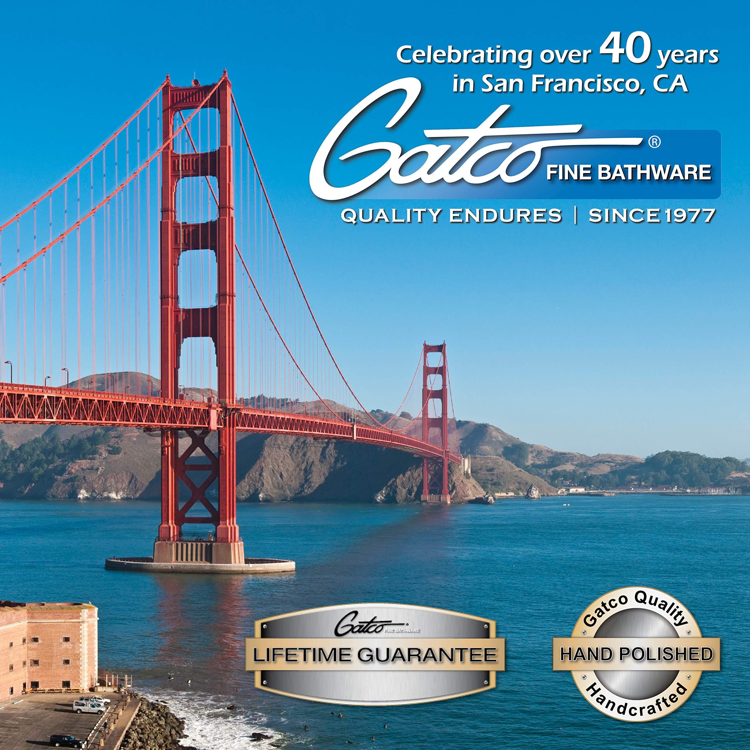 Gatco 1436 Pedestal Toilet Paper Holder, Polished Brass by Gatco (Image #4)