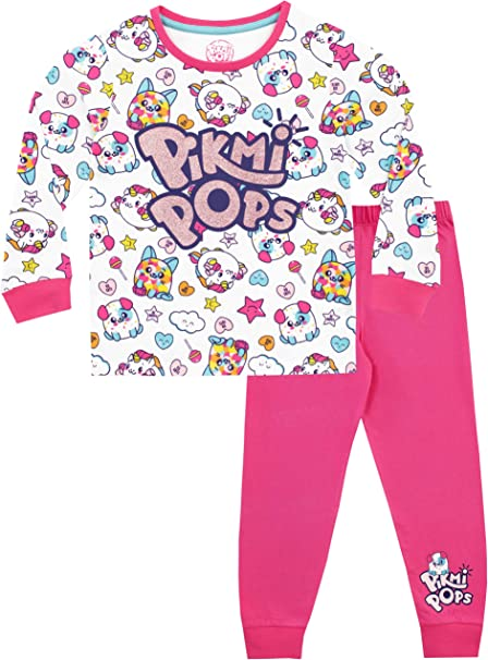 Licensed Pikmi Pops Girls I Love  Pyjamas Size Age 5-6 Years Sale Pjs Sleepwear