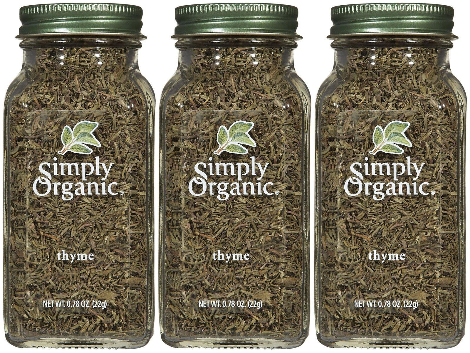 Simply Organic Ssnng Thyme Leaf Org Bttl