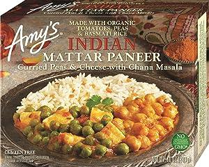 Amy's Indian Mattar Paneer, Non GMO, 10-Ounce