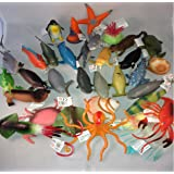 12 x Large Sealife Creatures Party Bag Fillers - 10-13 cm Long Great details & Colours