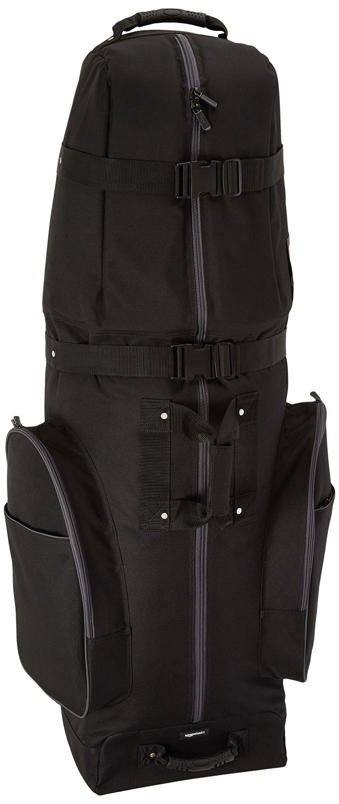 AmazonBasics Soft-Sided Golf Club Travel Bag Case With Wheels - 50 x 13 x 15 Inches, Black by AmazonBasics