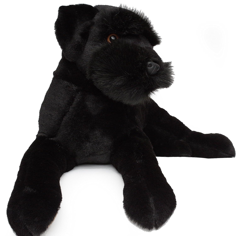 Schnauzer/Terrier Ruso Negro 80 cm Peluche perro de peluche ...