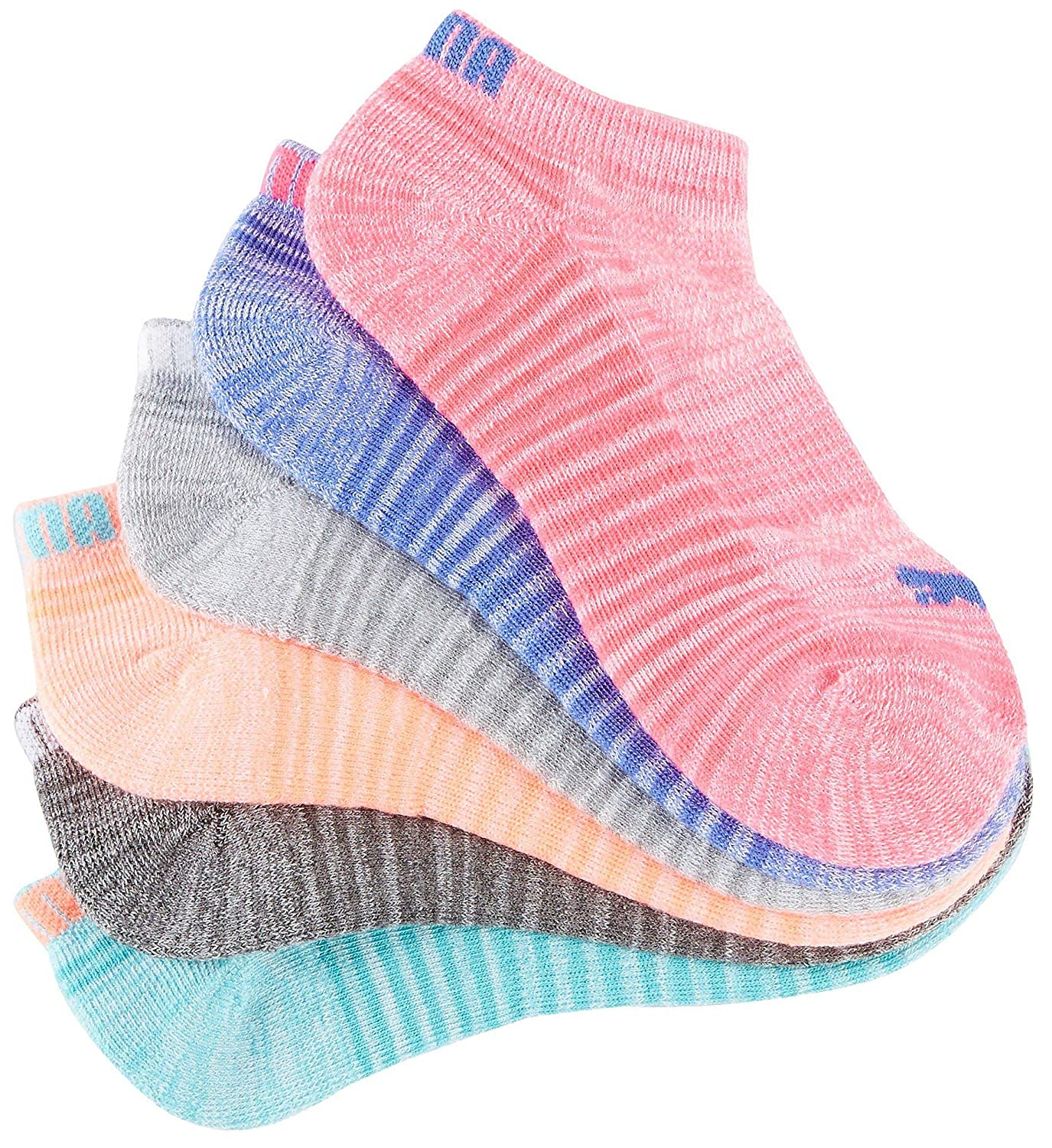 9750e2c9364 PUMA Women s 6 Pack Low Cut Socks at Amazon Women s Clothing store