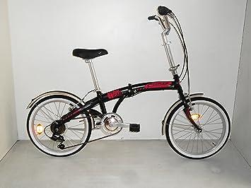 Bicicleta car-flexy Unisex y plegable 20 ciclos Cinzia, negro mate