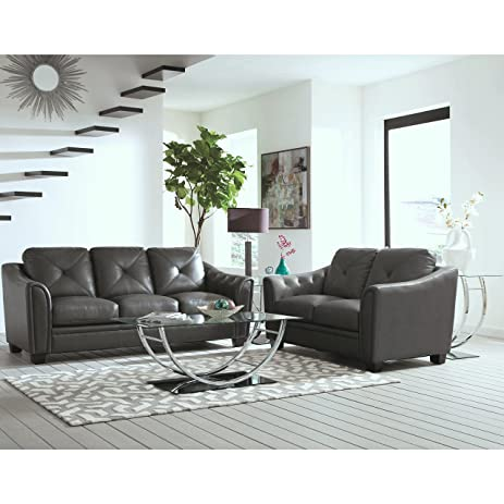 A Line Furniture Lacasta Mid Century Modern Tufted Design Grey Living Room  Sofa Collection Sofa,