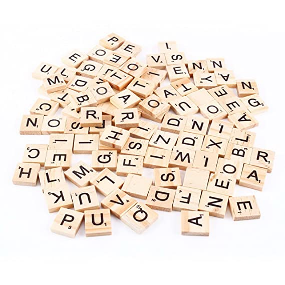 Amazon Dsyj Scrabble Tiles 100 Letter Tiles Toys Games