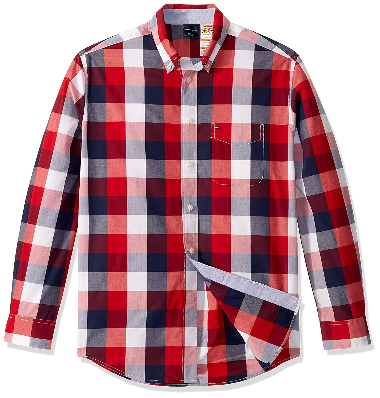 Tommy Hilfiger Camisa de Manga Larga magnética Adaptable, con ...