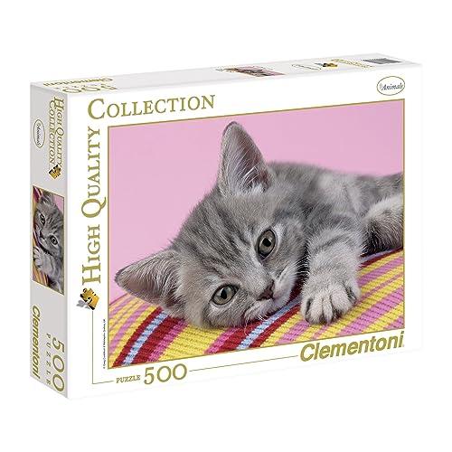 Clementoni - 30362.5 - Puzzle Collection High Quality - 500 Pièces - Chat Gris