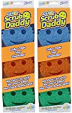 Scrub Daddy - Flex Texture Sponge, 6 Pack - Colors And Packaging May Vary