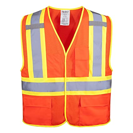 Workplace Safety Supplies Security & Protection Hi Vis Two Tone Safety Vest With X On The Back Reflective Waistcoat Breathable Mesh Vest Orders Are Welcome.