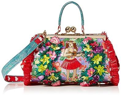 Irregular Choice Do The Hula Bag, Sacs portés main femme, (Red), 16x18x28 cm (W x H L)