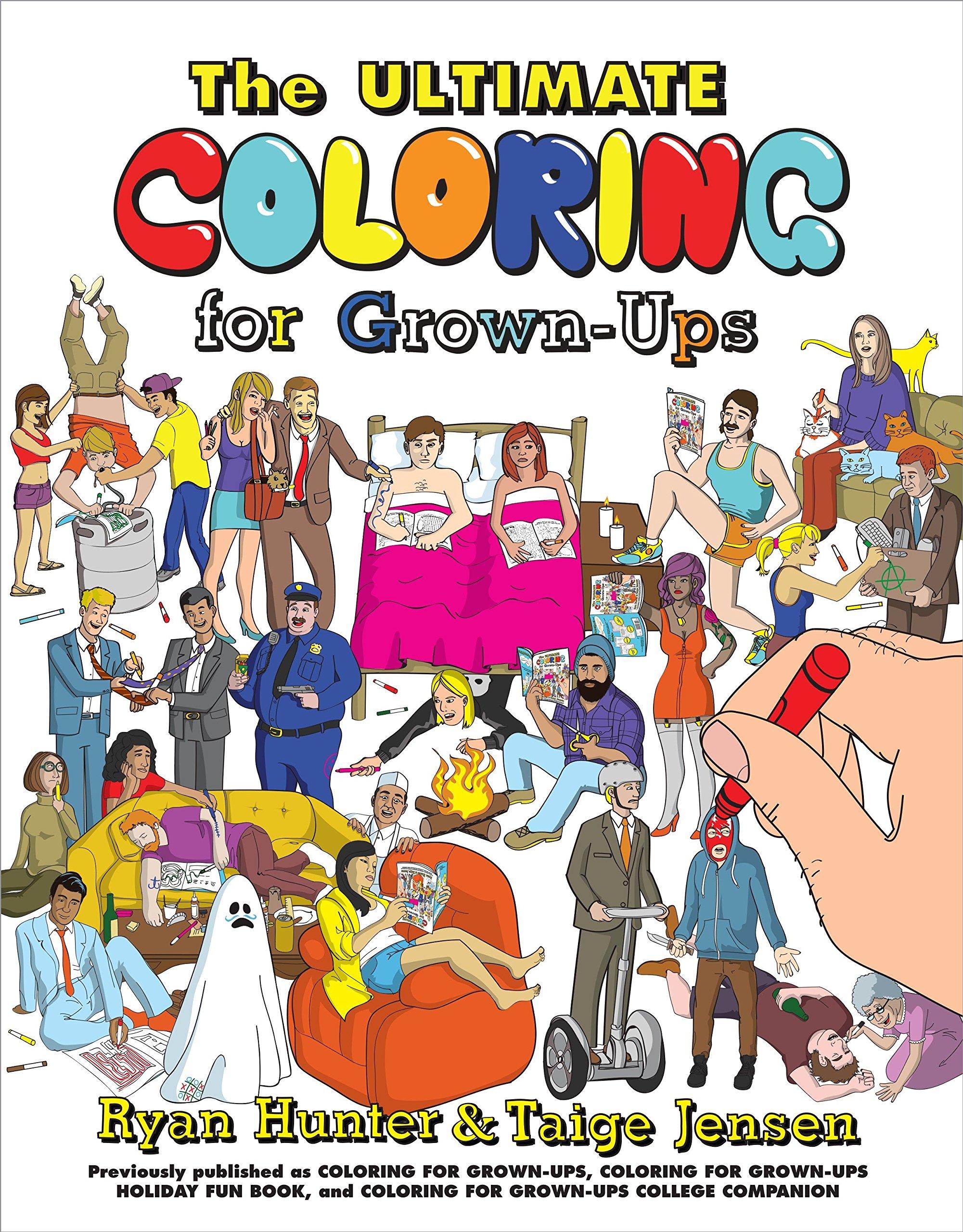 Ultimate Coloring Grown Ups Ryan Hunter product image