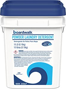 Boardwalk 340LP Laundry Detergent Powder, Summer Breeze, 18 lb Bucket