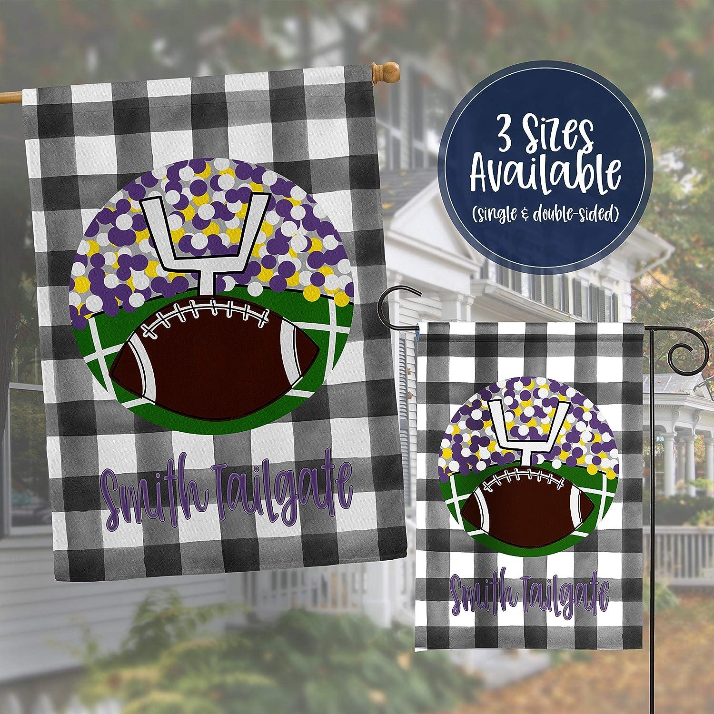 Personalized Garden Flag | Purple Football Tailgate | Fall House Flag | Yard Flag | Garden Decor, House Flag, Housewarming Garden Decal,