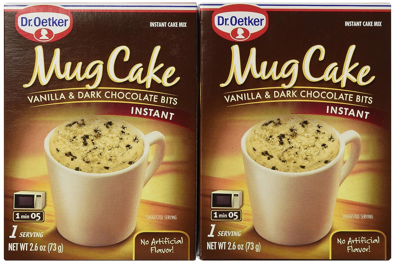 Dr Oetker Cake Mug Bits Vanilla Extra chocolate, 2.6 oz