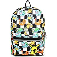 Pokemon All Over Print Checkered Characters Backpack School Bag for Kids