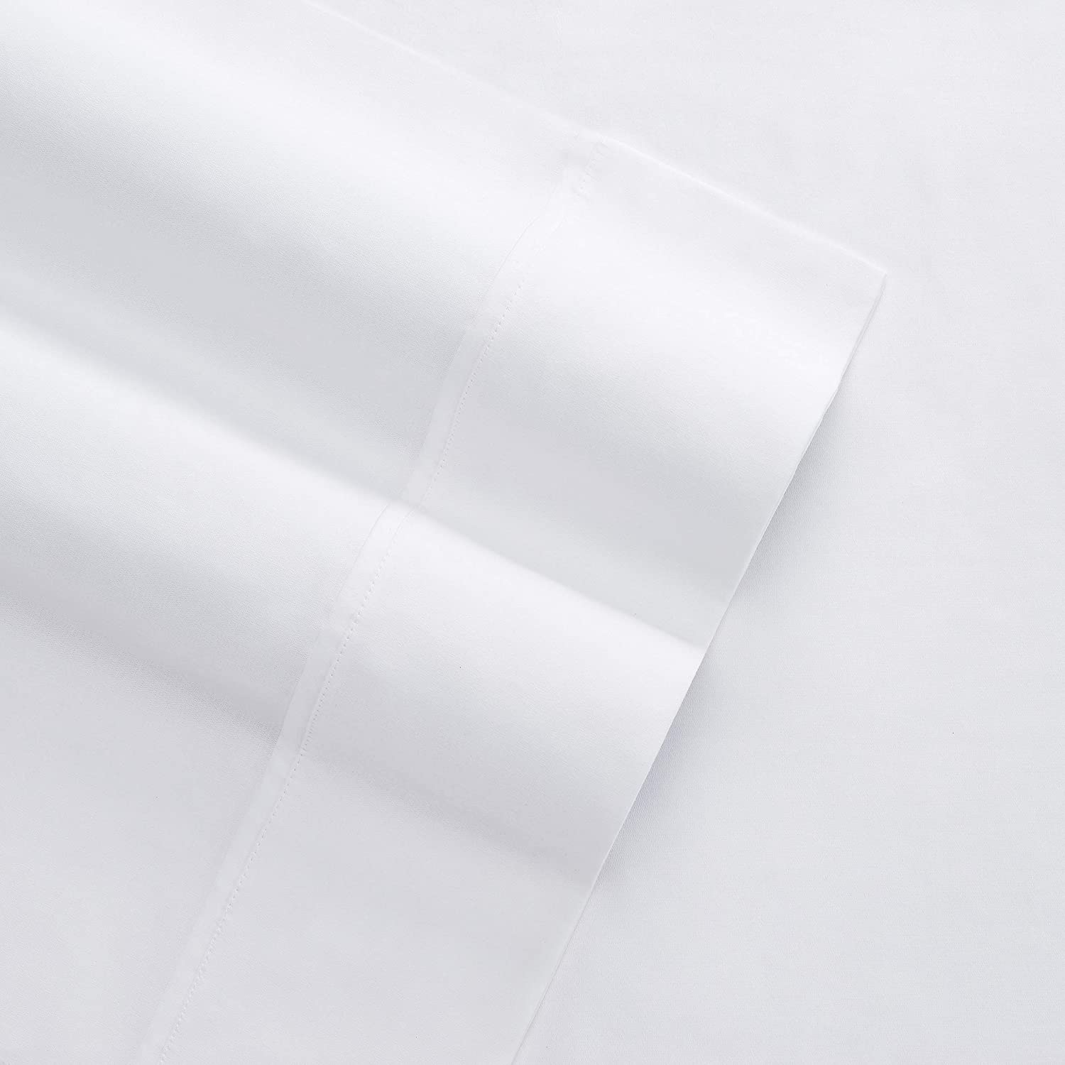 Columbia Organic Cotton Sateen Weave Performance Sheet Set – 300TC with Omni-Wick Moisture Wicking Stay Dry Technology - 100% GOTS Certified Organic Cotton – Queen 4-Piece Sheet Set, Bright White