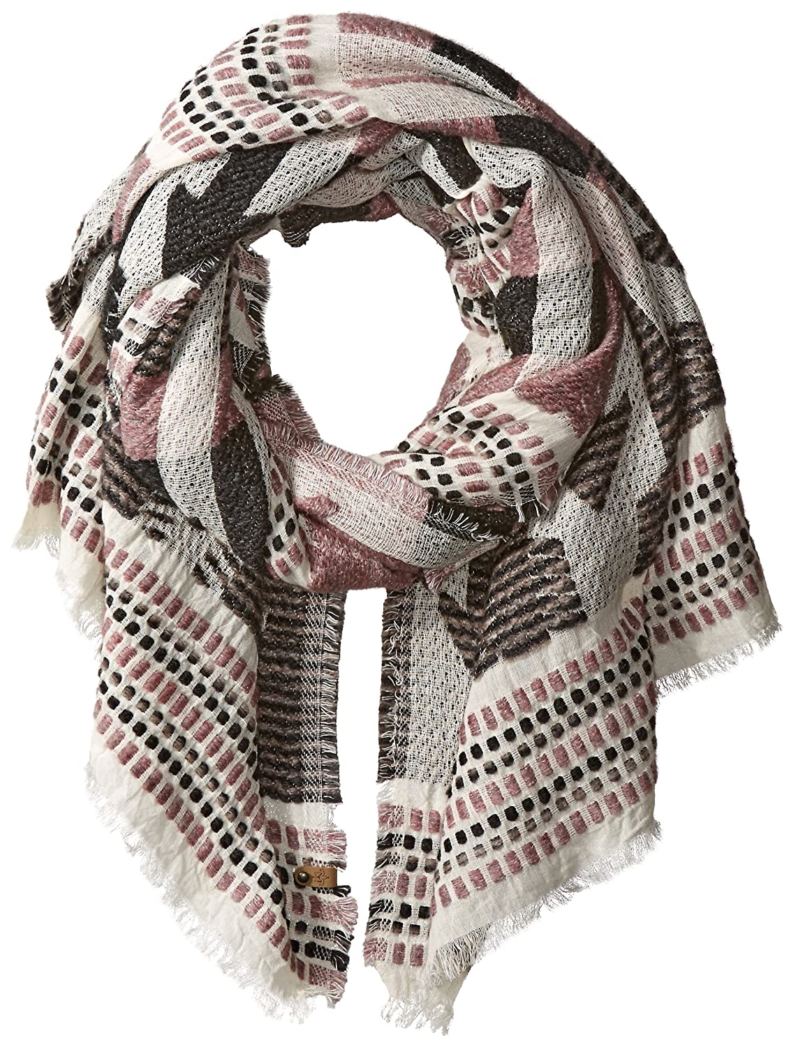 Armani Exchange Men's Knitted Pattern Scarf Green/Cream One Size 954003-6A008