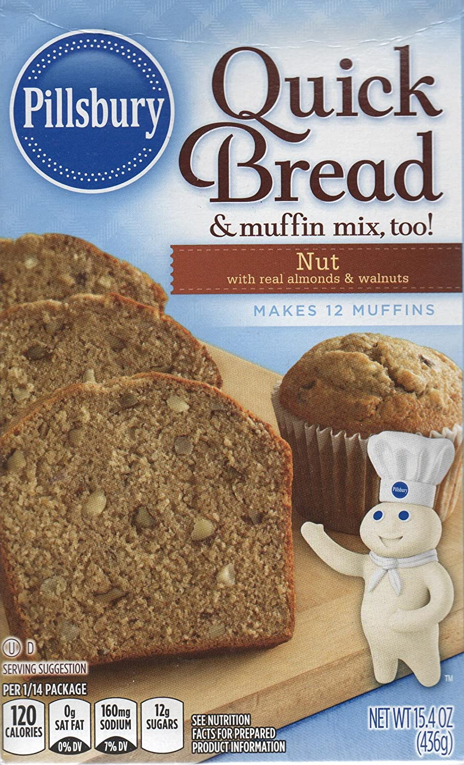 Amazon Com Pillsbury Nut Quick Bread 15 4 Ounce Boxes Pack Of 12