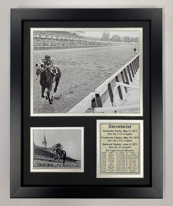 "Secretariat - 1973 Triple Crown Winner 11"" x 14"" Framed Photo Collage by Legends Never Die, Inc."