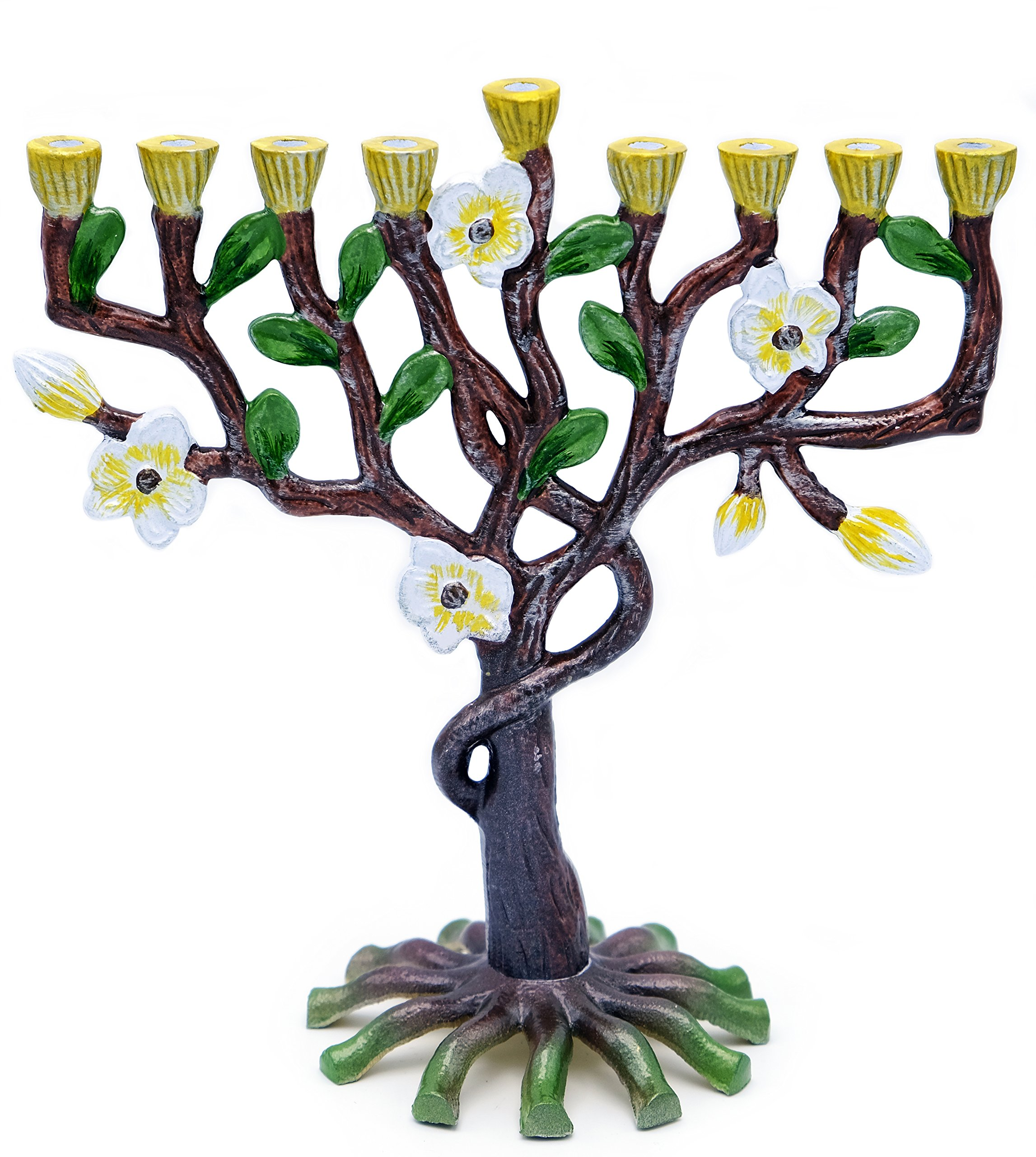 Menorah Tree Of Life - Nature's Colors Flowers and Trees