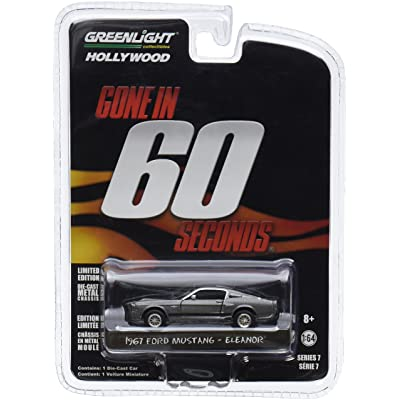 "Greenlight 44742 Gone in 60 Sixty Seconds (2000) ""Eleanor"" 1967 Ford Mustang Shelby GT500 1/64 Scale: Toys & Games"